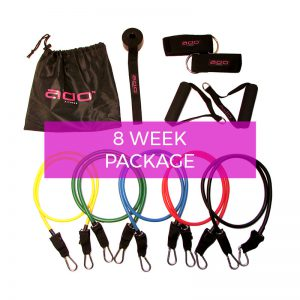 8 Week Total Body Resistance Band Set + Workouts Beginner Bundle