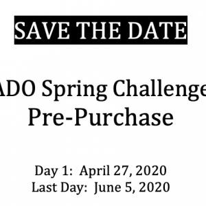 Protected: 2020 ADO Spring Challenge Pre-Purchase